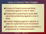 uses of interest rate hedges