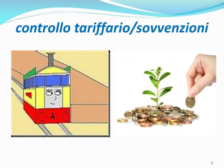 controllo tariffario/sovvenzioni