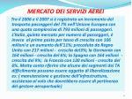 mercato dei servizi aerei