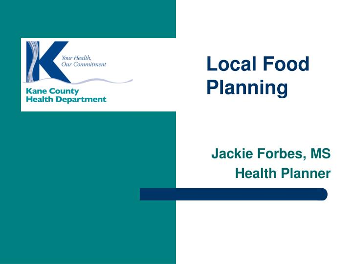 Jackie forbes ms health planner
