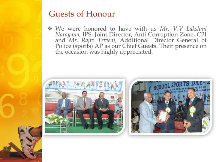 Guests of Honour