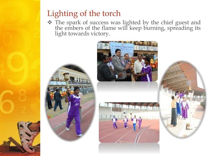 Lighting of the torch