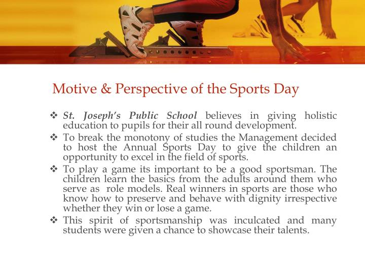 Motive perspective of the sports day