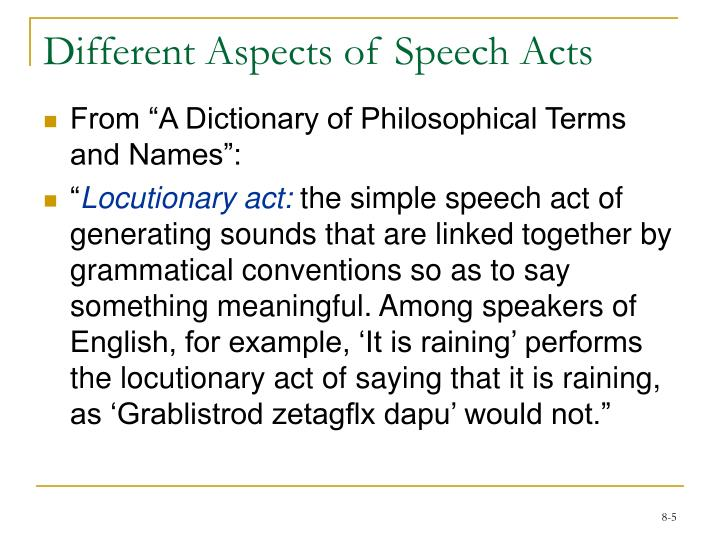 thesis speech acts