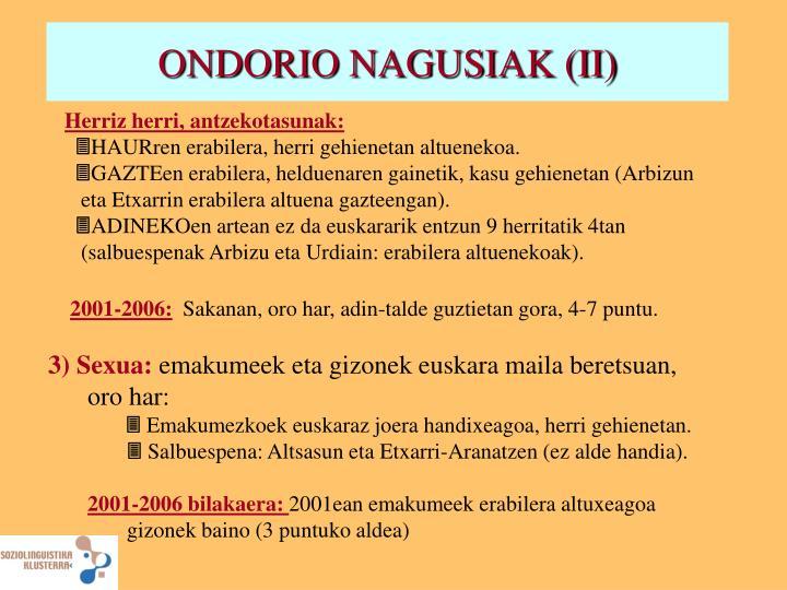 ONDORIO NAGUSIAK (II)