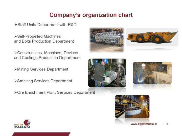 Company's organization chart