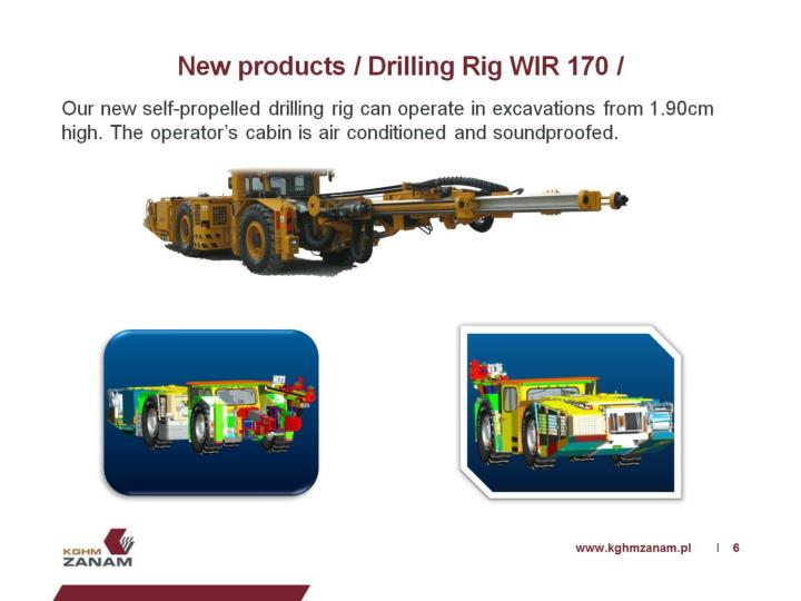 New products / Drilling Rig WIR 170 /