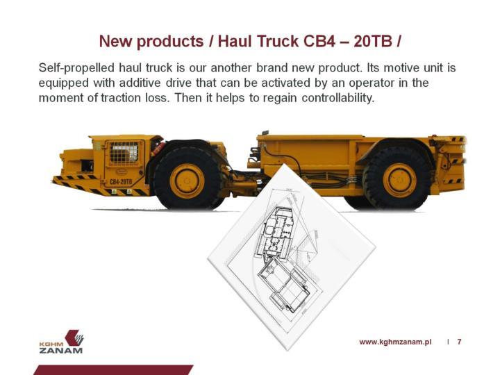 New products / Haul Truck CB4 – 20TB /