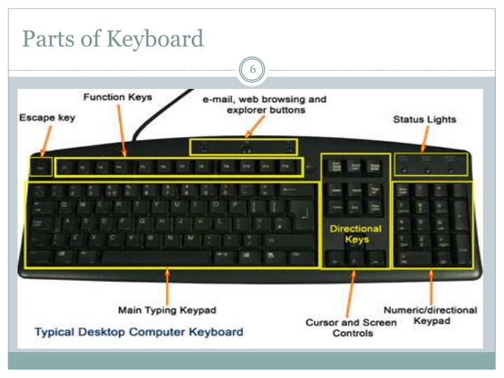 Parts of Keyboard