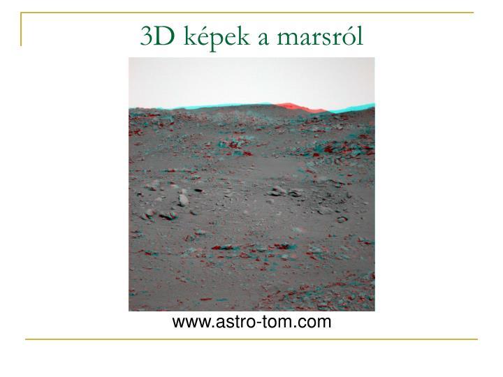 3D képek a marsról