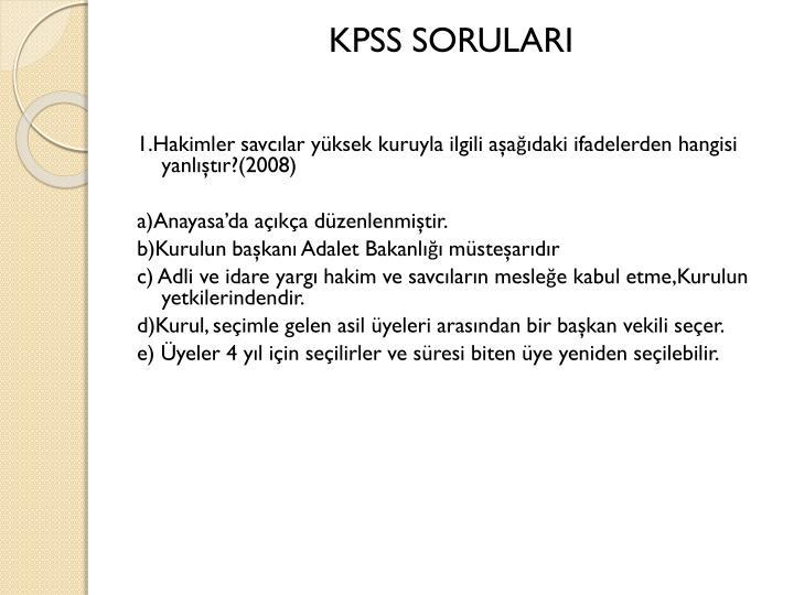 KPSS SORULARI