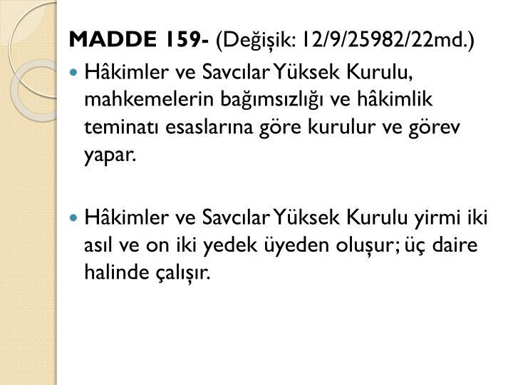 MADDE 159-