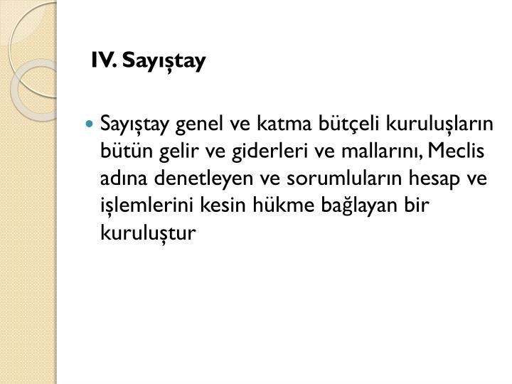 IV. Sayıştay