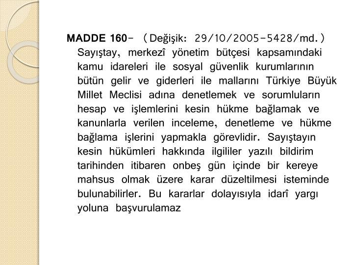 MADDE 160