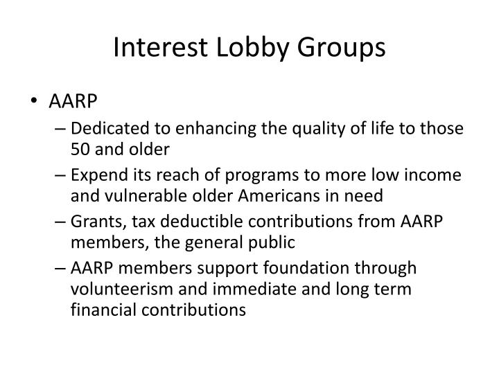 Interest Lobby Groups
