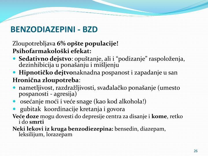 BENZODIAZEPINI - BZD