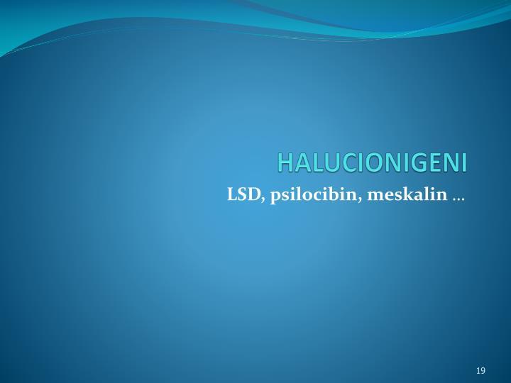 HALUCIONIGENI