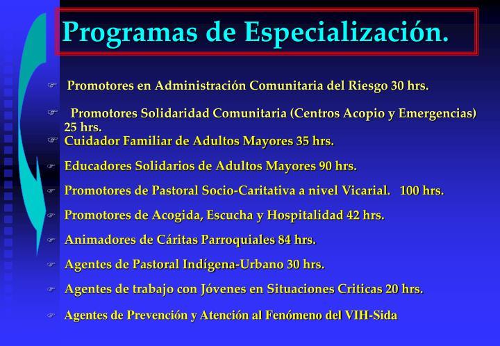 Programas de Especialización.