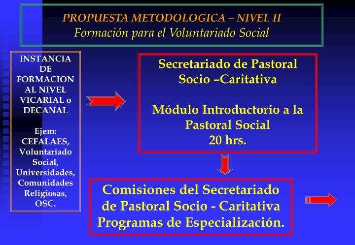 PROPUESTA METODOLOGICA – NIVEL II