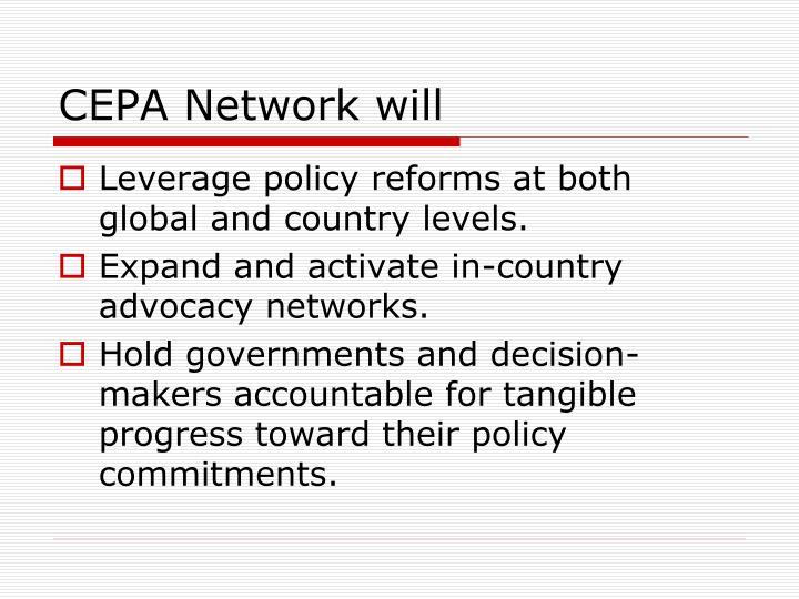 CEPA Network will