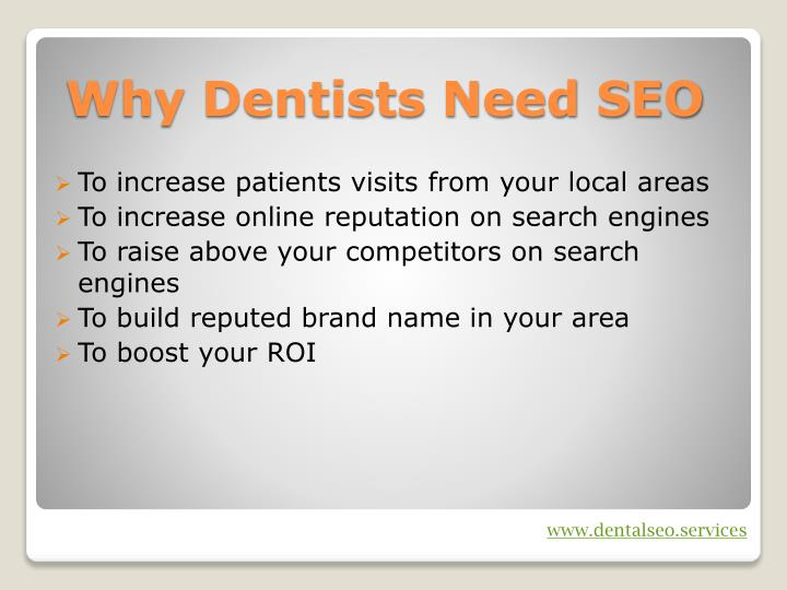 To increase patients visits from your local areas