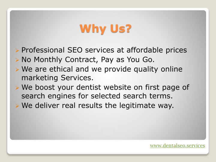 Professional SEO services at affordable prices