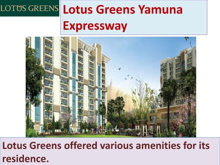 Lotus Greens Yamuna Expressway