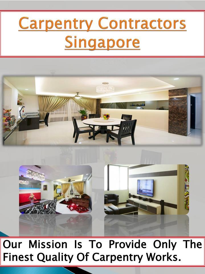 Carpentry Contractors Singapore