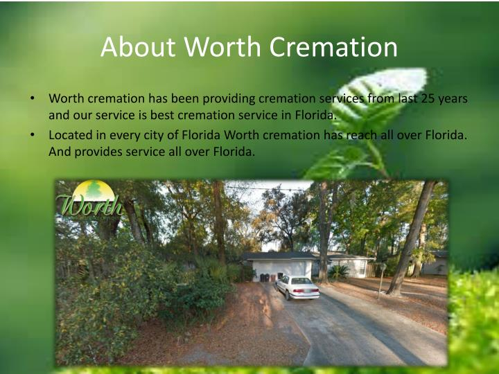 About worth cremation