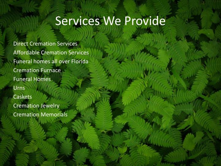 Services We Provide