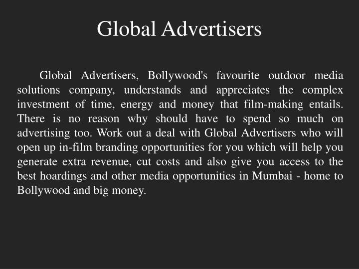 Global advertisers1