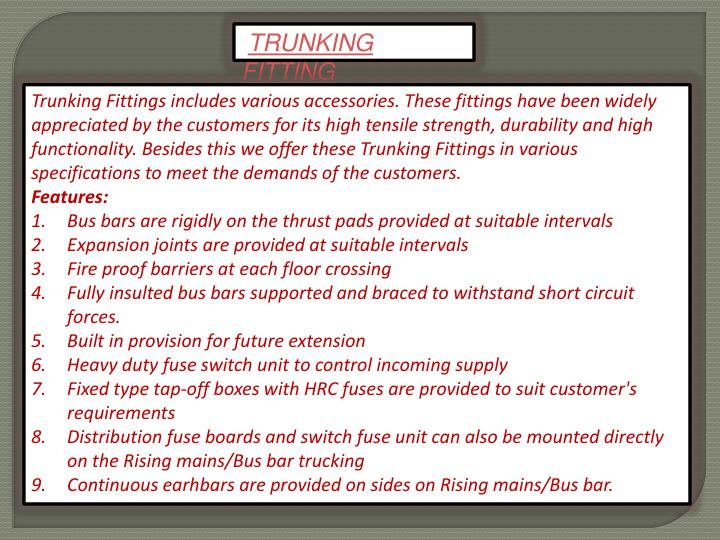 TRUNKING FITTING