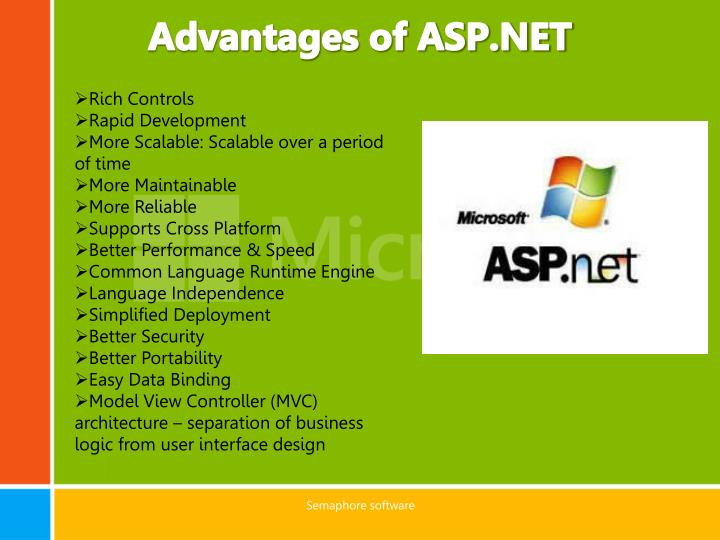 Advantages of ASP.NET