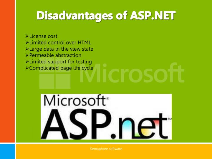 Disadvantages of ASP.NET