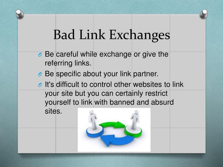 Bad Link Exchanges