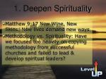 1 deepen spirituality