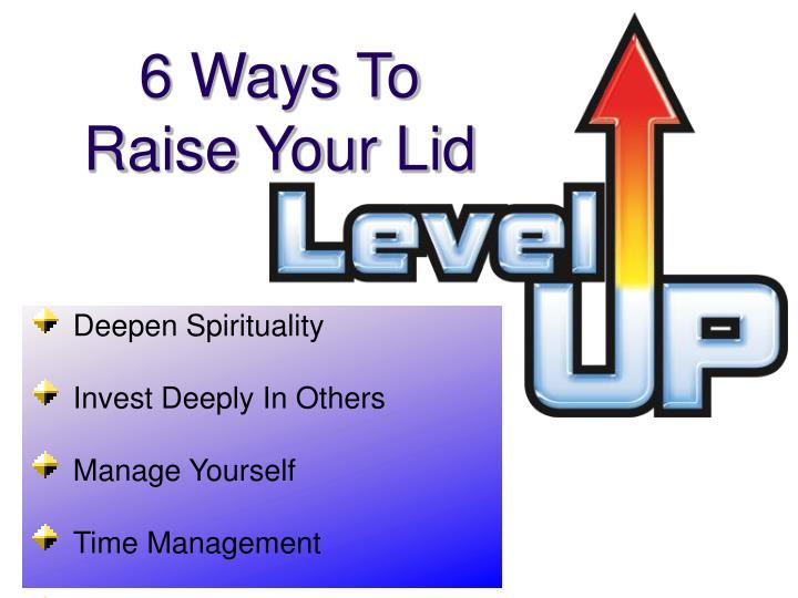 6 Ways To