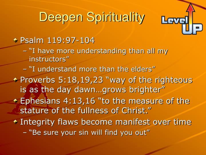 Deepen Spirituality