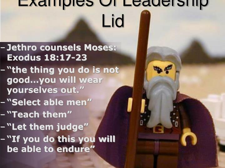 Jethro counsels Moses: Exodus 18:17-23