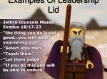 examples of leadership lid