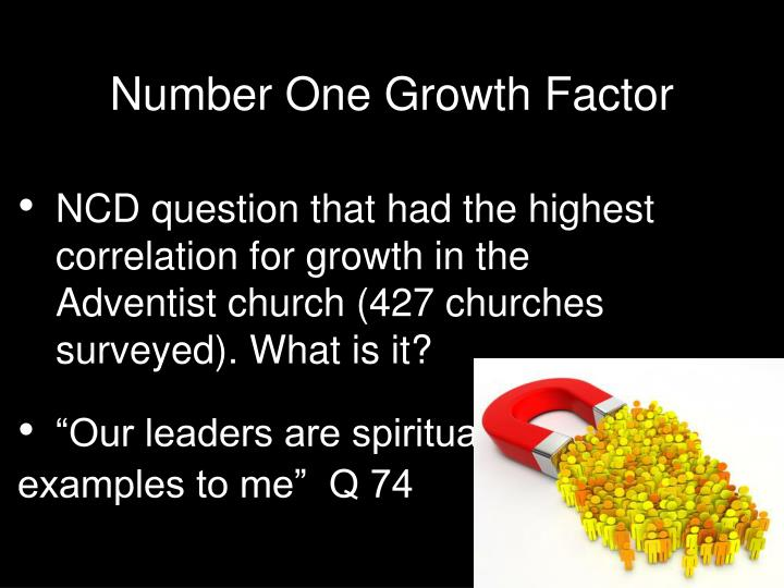 Number One Growth Factor
