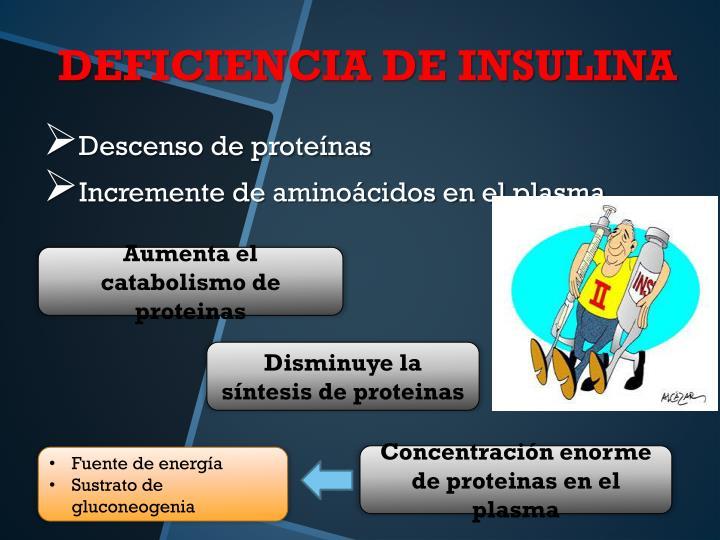Descenso de proteínas