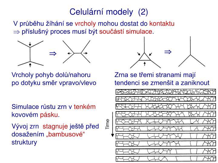 Celulární modely  (2)