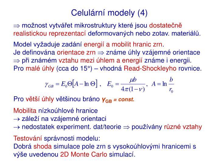 Celulární modely (4)