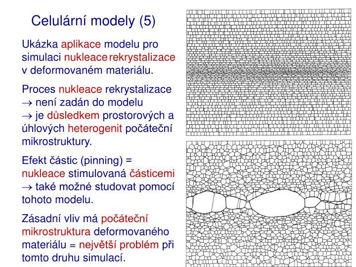 Celulární modely (5)