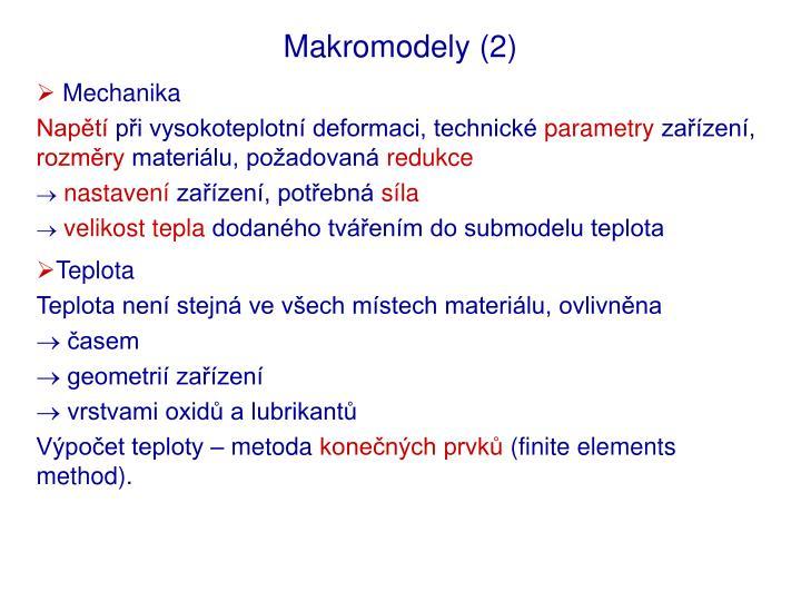 Makromodely (2)