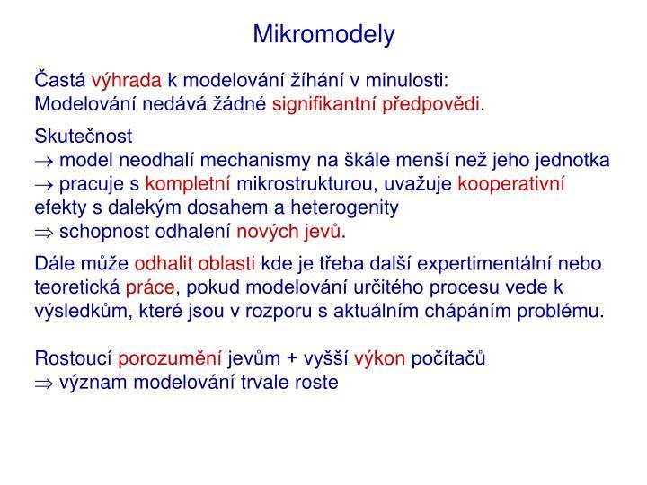 Mikromodely