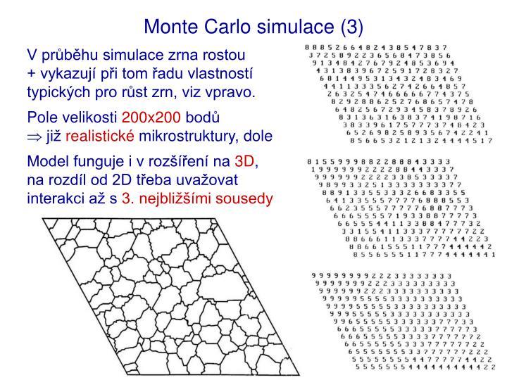Monte Carlo simulace (3)