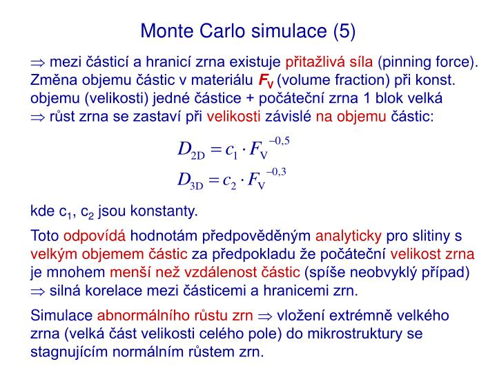 Monte Carlo simulace (5)