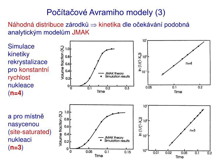 Počítačové Avramiho modely (3)